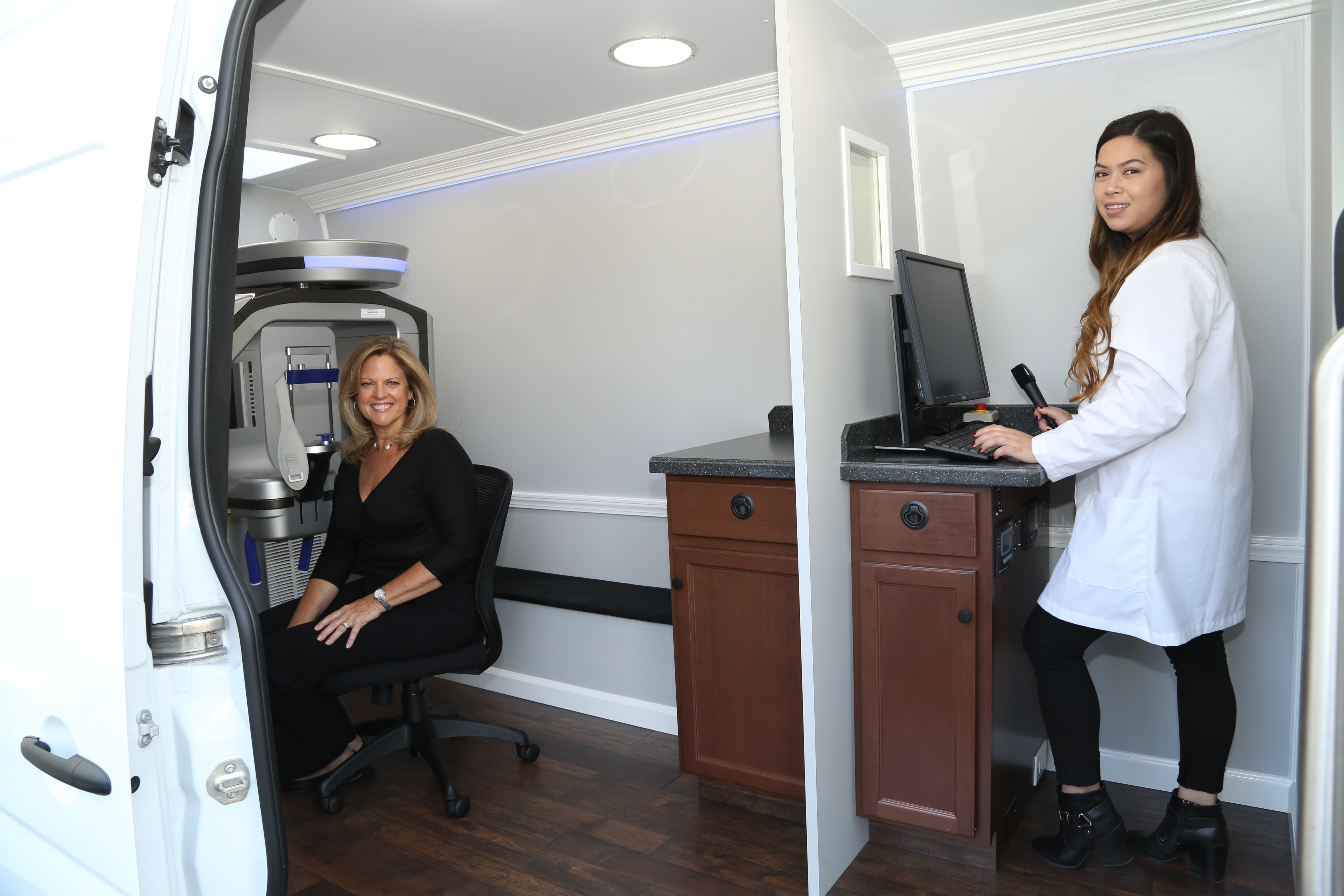 mobile CT scan vans
